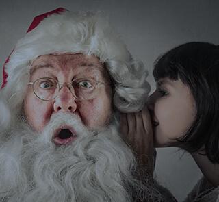 Elle vous a laissé faire semblant de croire au Père Noël pour avoir plus de cadeaux ...