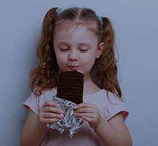Elle vous a laissé Se gaver de chocolat avant les haricots verts ...